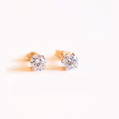 14k Gold Filled Cz Studs - xohanalei