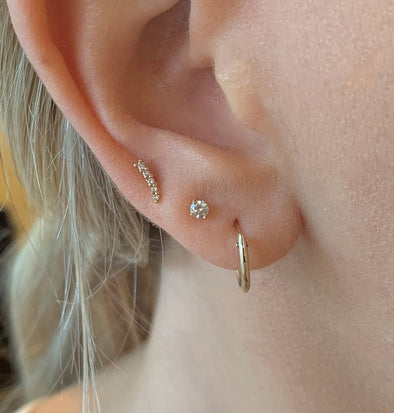 Mini 14k Gold Hoops - xohanalei