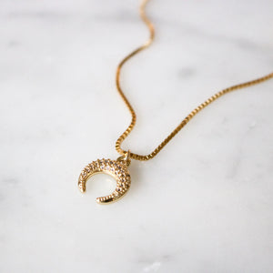 Petite Crescent Necklace - xohanalei
