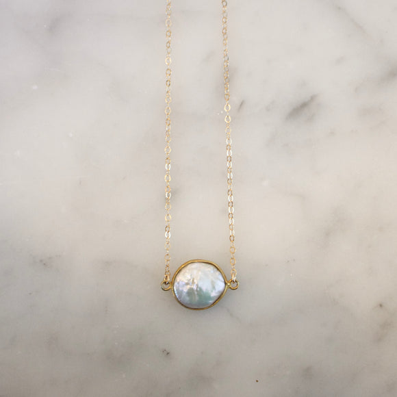 Pearl Coin Necklace - xohanalei