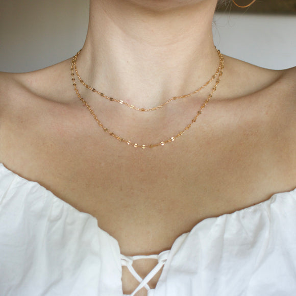 Double Layer Stardust Necklace - xohanalei