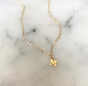 Petite Initial Necklace (Preorder) - xohanalei