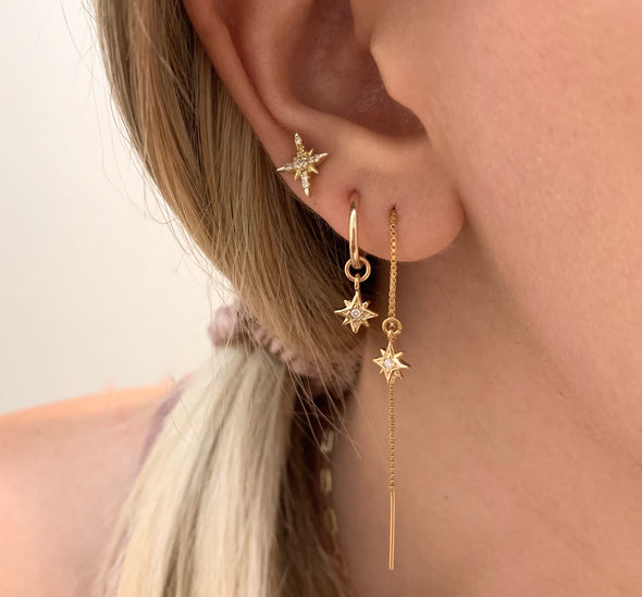 Supernova Threader Earrings - xohanalei