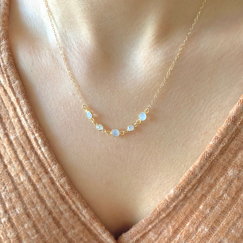 Moonstone Orbit Necklace
