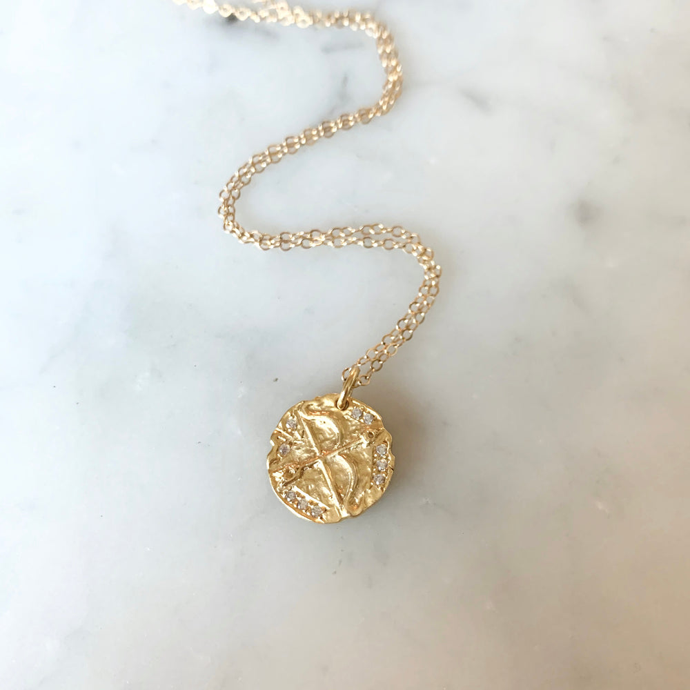 Bow And Arrow Coin Necklace