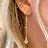Moonstone Link Earrings - xohanalei