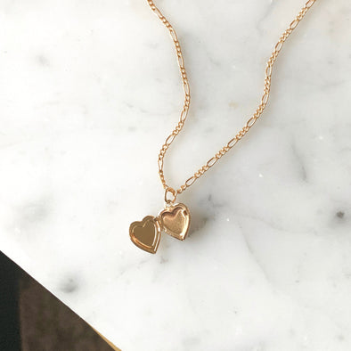 Heart Of Gold Locket - xohanalei