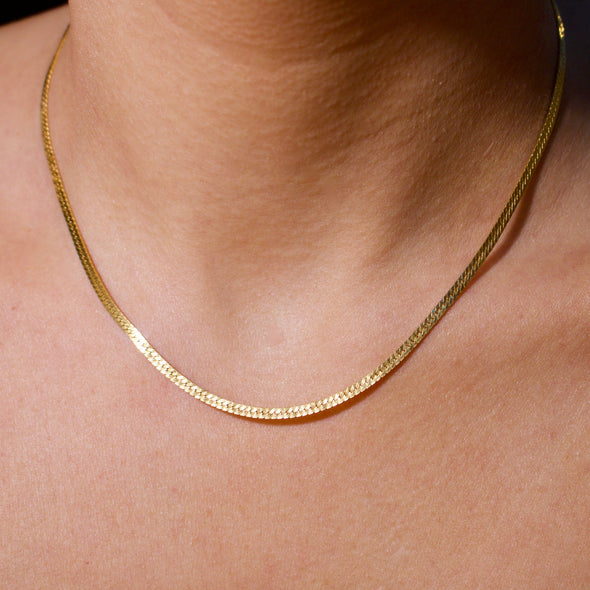 Herringbone Chain 14k Gold Filled (2.5 mm) - xohanalei