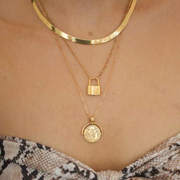 Figaro Lock Necklace - xohanalei