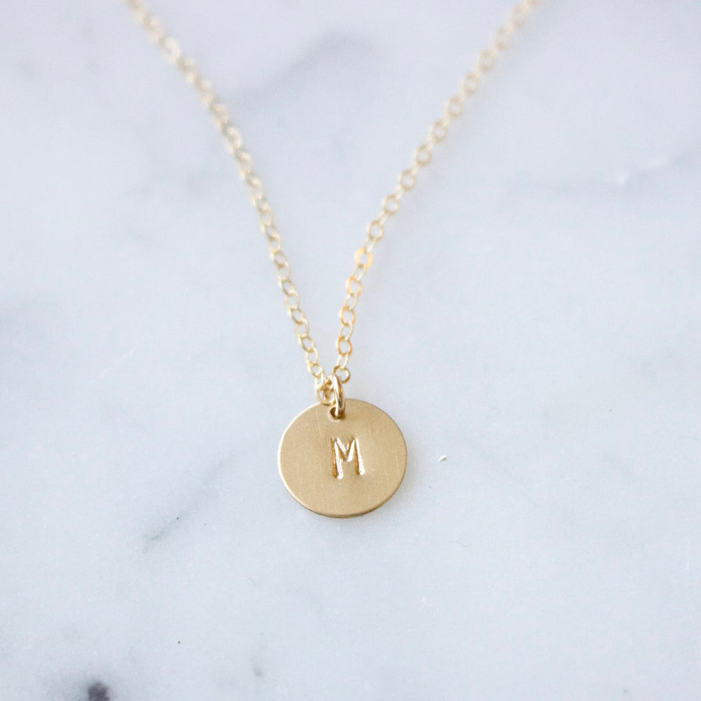 Custom Initials Disc Necklace
