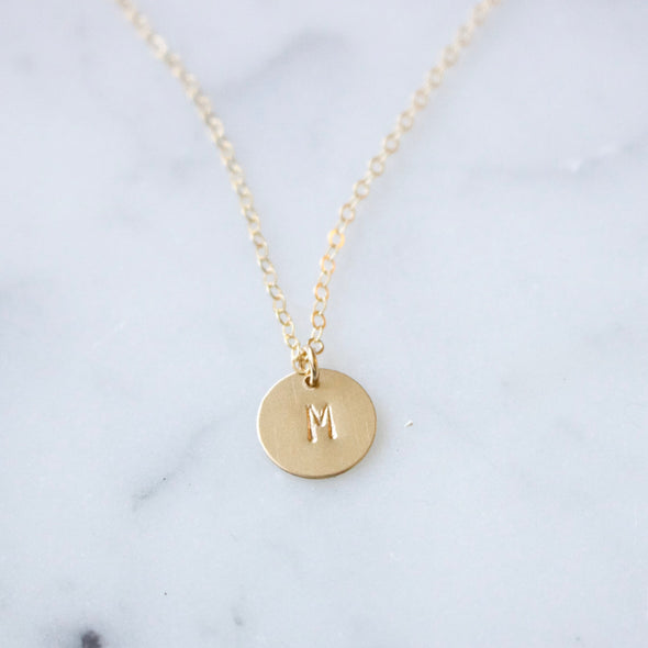 Custom Initials Disc Necklace - xohanalei