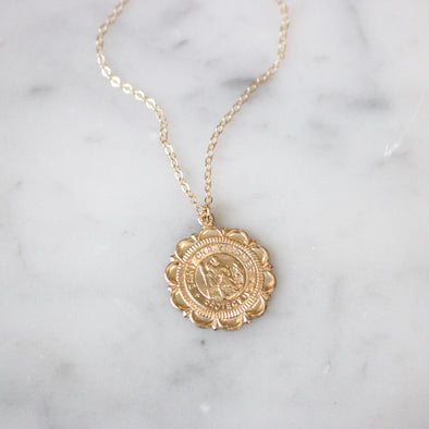 Saint Christopher Medallion Necklace - xohanalei
