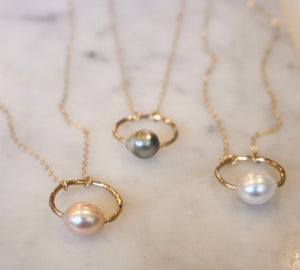 Halo Pearl Necklace - xohanalei