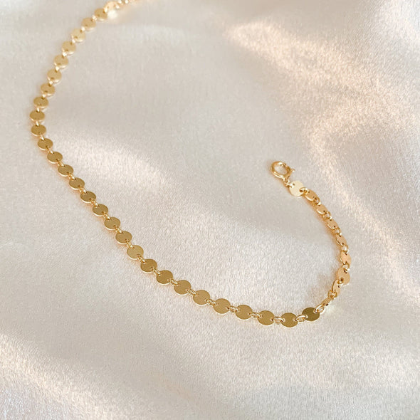 Gold Filled Disc Chain
