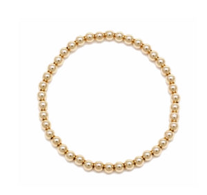 14k Gold 4 mm Beaded Bracelet - xohanalei