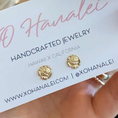 14k Gold Filled Rose Studs