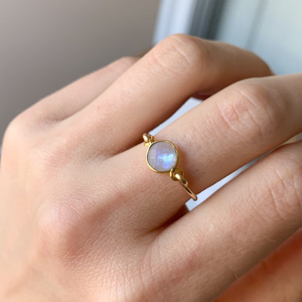 Gold Filled Moonstone Ring