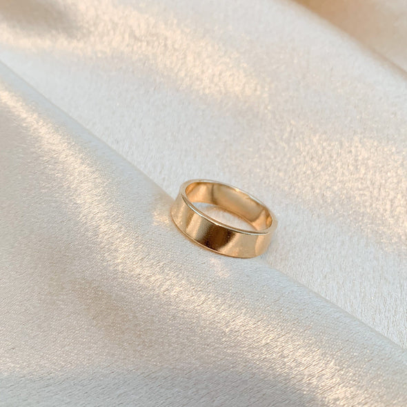 14k Gold Filled Thick Band