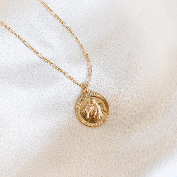 Saint Anthony Coin Necklace