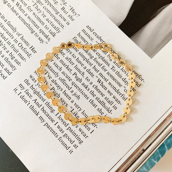 Gold Filled Disc Bracelet