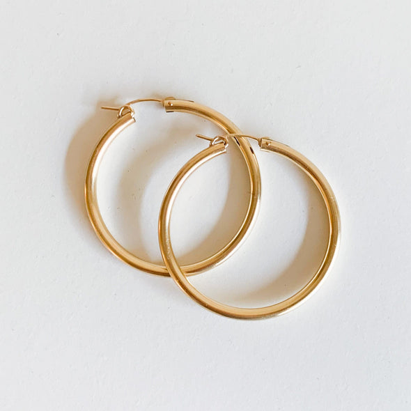 XL Gold Filled Hoops (42mm)