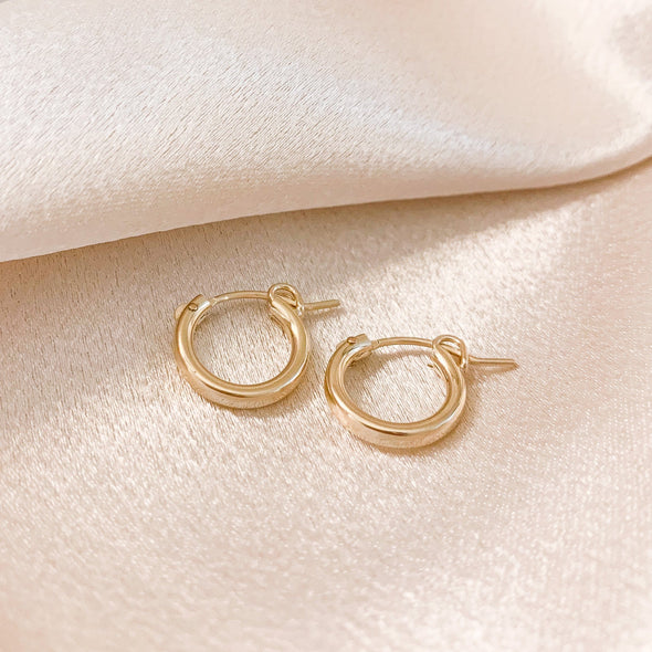 Small Gold Filled Thick Hoops