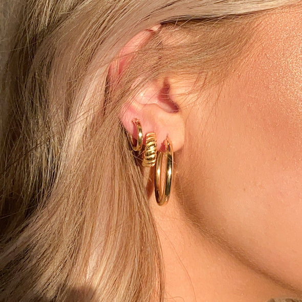 Thick 27mm Gold Filled Hoops