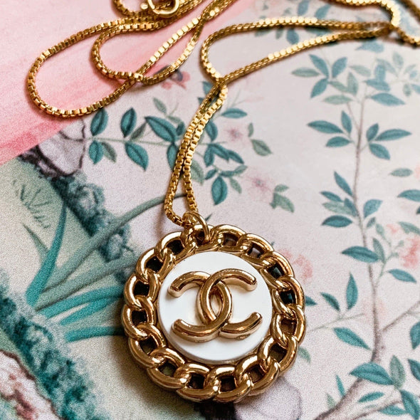 Vintage Chanel Coin Necklace