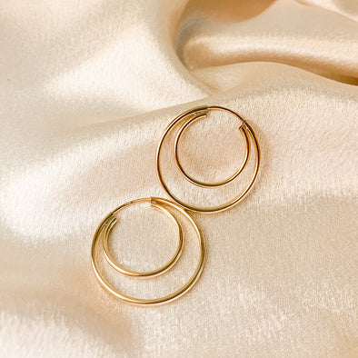 To The Moon Hoops (14k Gold Filled)