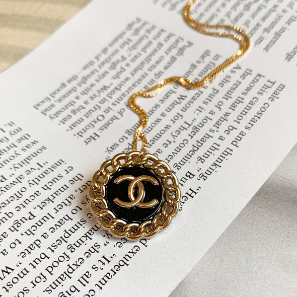 Vintage Designer CC Necklace