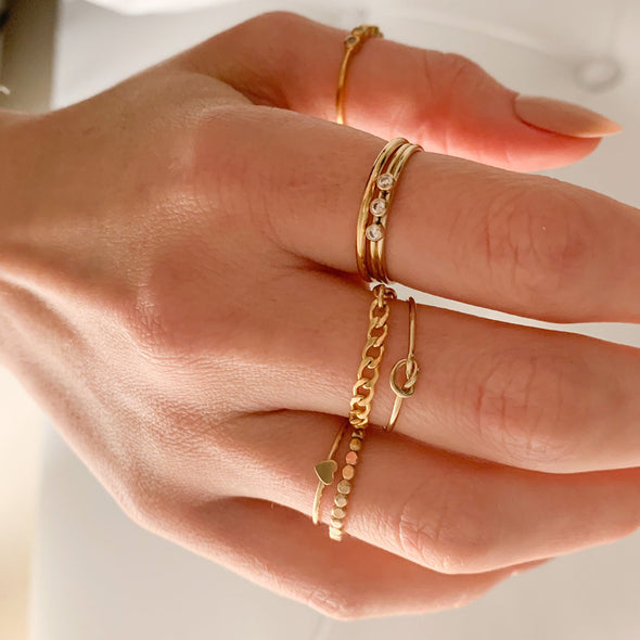 Gold Filled Love Knot Ring