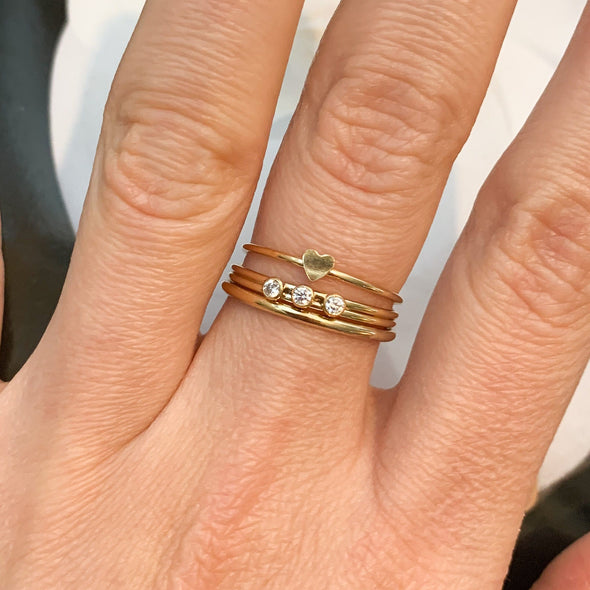 14k GF Stacking Ring Set