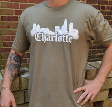 Load image into Gallery viewer, Charlotte Skyline Military Green T-Shirt