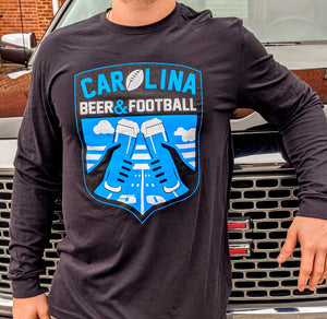 Carolina Beer & Football Long sleeve - Black