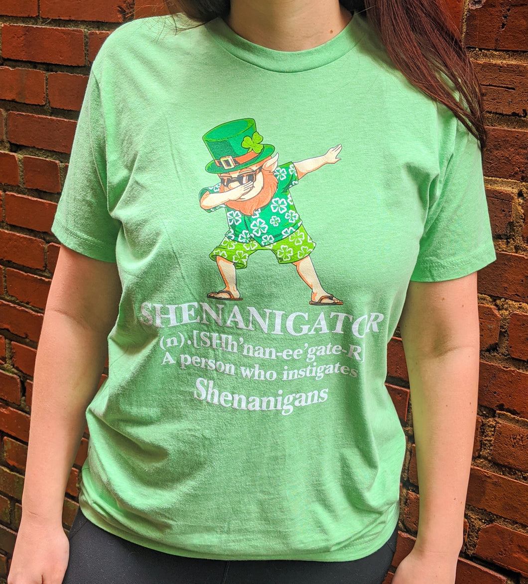 Shenanigator Tee - Apple Green