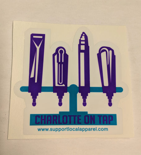 Charlotte On Tap - Vinyl Decal