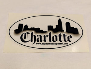 Charlotte Skyline - Vinyl Decal