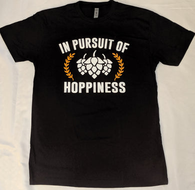 In Pursuit of Hoppiness - Black T-Shirt