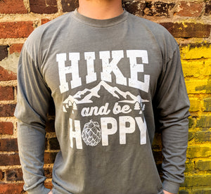 Hike and Be Hoppy Grey Longsleeve
