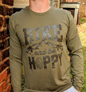 Hike and Be Hoppy Olive Longsleeve