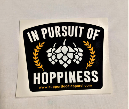 In Pursuit of Hoppiness - Vinyl Decal