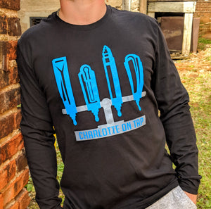 Charlotte On Tap Black Longsleeve