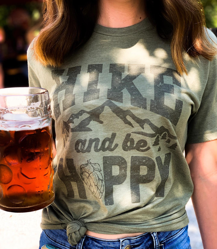 Hike and Be Hoppy Tee - Olive