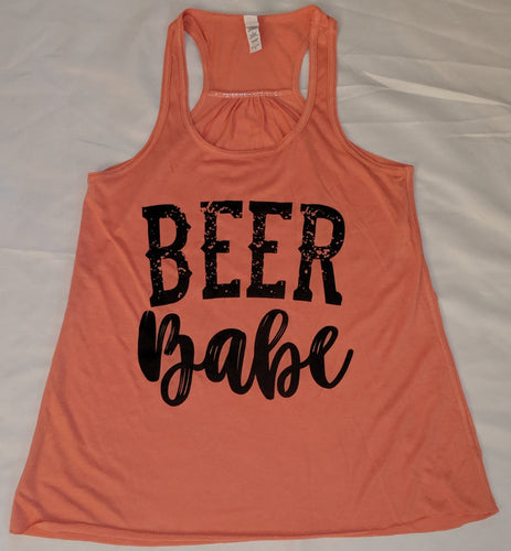 Beer Babe Tank- Sunset
