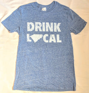 Drink Local- Blue Active Wear T-Shirt