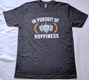 In Pursuit of Hoppiness Heather Charcoal T-Shirt