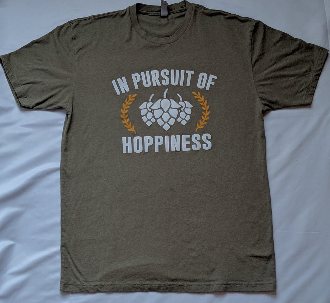 In Pursuit of Hoppiness Military Green T-Shirt