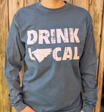 Load image into Gallery viewer, Drink Local Blue Longsleeve