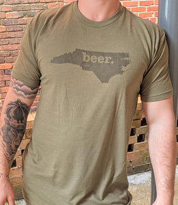 Beer- Military Green T-Shirt