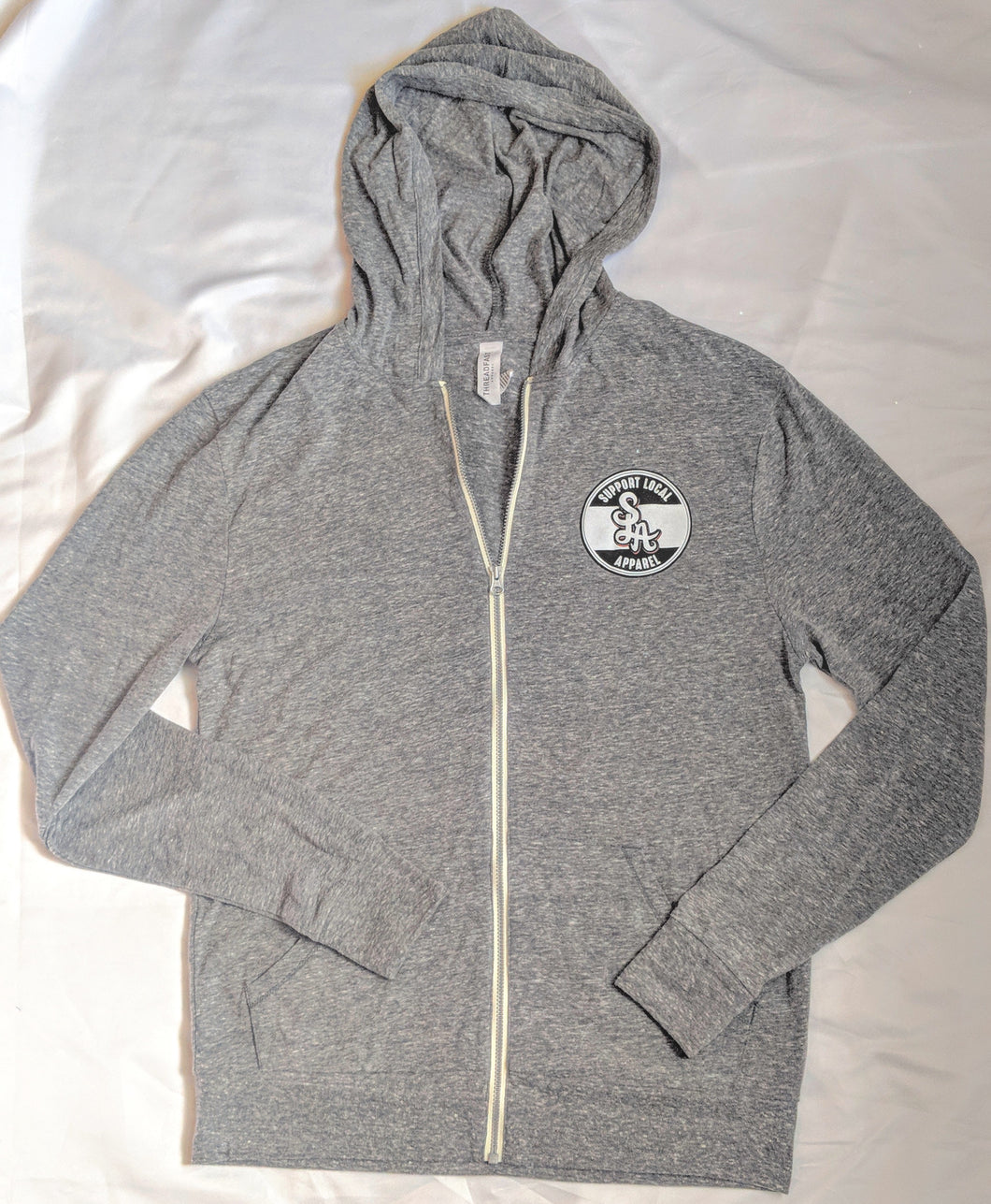 Support Local Logo Light-Weight Zip-Up Hoodie